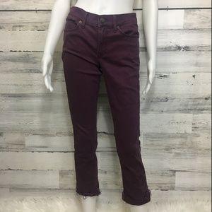 Express Jeans stretch plum dye wash low rise 4R
